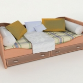 sofa bed in the children's