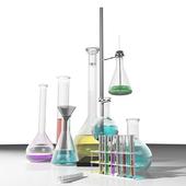 Химия. Колбы, пробирки и др.