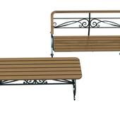Кованное торговое оборудование, скамеки, Cavaletto
