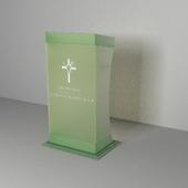 кафедра стеклянная
