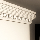 cornice with decor