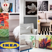 IKEA, paintings and posters