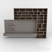 tv module with bookcase
