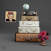 Luggage set and decor