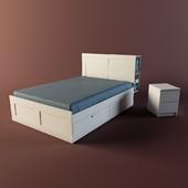 Ikea Brimnes with headboard & Malm