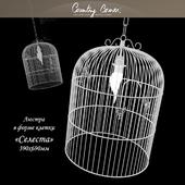"chandelier in the form of cells ""Celeste"""