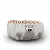 soft pouf in the nursery