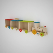 "Shelf in the nursery ""Train"""