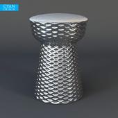 Cyan Design Chrome Cone Stool