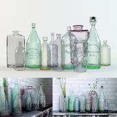 Старые бутылки для лофта