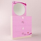 Мебель  CILEK (серия Princess ) комод, зеркало