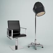 Кресло парикмахерское и  сушилка для волос