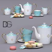 Чайный сервиз от DG Home + макаруны