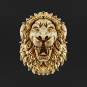 Голова льва для стены.