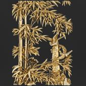 Bas-relief. Bamboo.