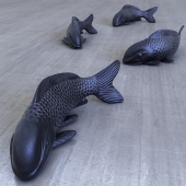 Sculpture fish carp