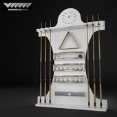 Vismara Design Cue Rack - ART DECO