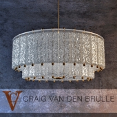 Venini Two Tier Textured Glass Fixture
