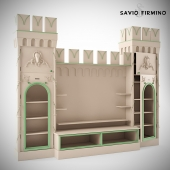 "Children's furniture ""Castle"" Savio Firmino. TV wall"