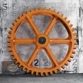 Декор Vintage Industrial Wooden Gear