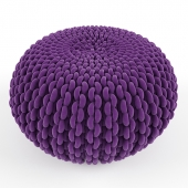 Oasis Knitted Pouf