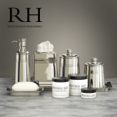 Set for bathrooms Restoration Hardware METAL APOTHECARY ACCESSORIES