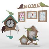 Photo frames and clocks Birds
