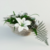 Bouquet in the basket