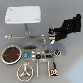 A set of devices and components for boats