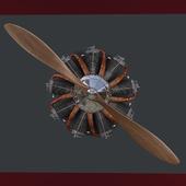 "Настенный декор ""Aircraft Engine"""