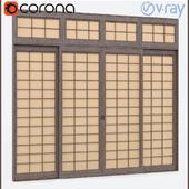 Doors in Japanese style. / Doors in Japanese style.