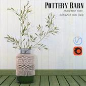Pottery Barn Macrame Vase