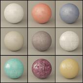 Set of 9 plaster materials