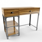 Old style metal and wood desk