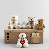 play set with bears