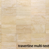 Multi-texture travertine