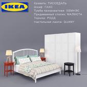 Bed TISSEDAL (IKEA + set of furniture)