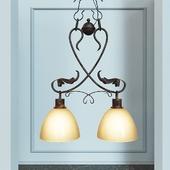"wrought iron chandelier hanging ""Grace II"""