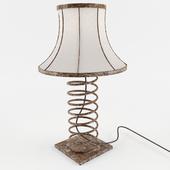 лампа в индустриальном стиле