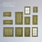 """Facades made of wood. Collection """"Ancona"""""""
