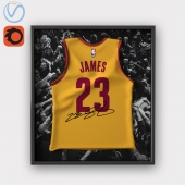 Lebron James jersey in frame / Mike LeBron James in the frame