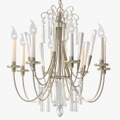 1stdibs Elegant Chandelier with Crystals by Lightolier