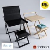 K desk and X stool from Rafa kids