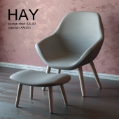 Hay lounge chair AAL82 and ottoman AAO03