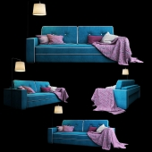 Trehmestny sofa Silvio