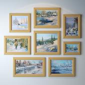 Картины Владимира Жданова (Зимняя пора)