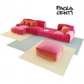 Paola Lenti / B87DE + B87CE + Island side table B11PA + B87BE + JOLLY pouf + B86A