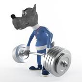 Волк - спортсмен