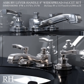 ASBURY LEVER-HANDLE 8in WIDESPREAD FAUCET SET