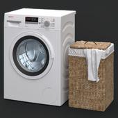 Washing machine and laundry basket
